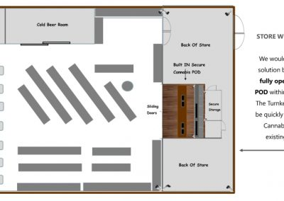 PODS Cananabis Store within a Store | Floor Plan